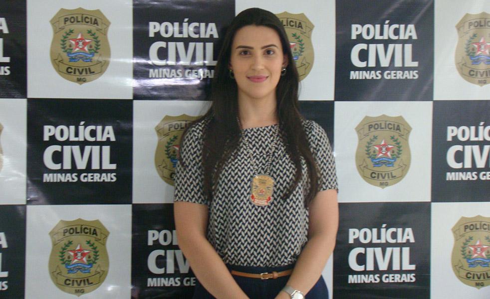 Dra. Hanela, responsável pela Delegacia da Mulher, da Polícia Civil de Alfenas, responsável pelo Inquérito, concedeu entrevista à Imprensa, ao lado do Delegado Regional Dr. Marcio