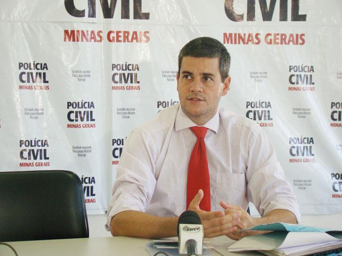 Dr. Marcio Bijalon, Delegado Regional da DPOL Civil de Alfenas no comando da Operação ASSEPSIA na região.