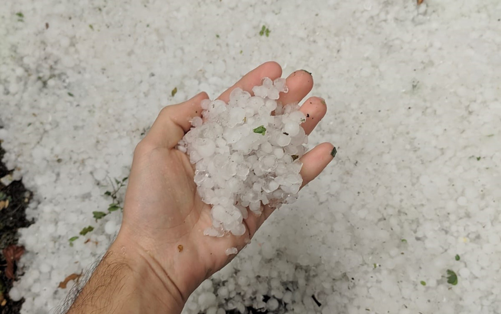Chuva de granizo assusta as cidades de Jesuânia, Lambari e Muzambinho